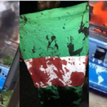 #LekkiMassacre: Angry mob allegedly attacks TVC, sets station on fire (Video)